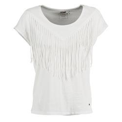 textil Mujer camisetas manga corta Mustang FRINGE Blanco