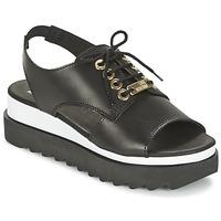 Zapatos Mujer Sandalias Love Moschino BASIC SANDAL Negro / Blanco