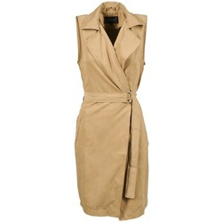 textil Mujer trench Vila VIEMMELY Beige