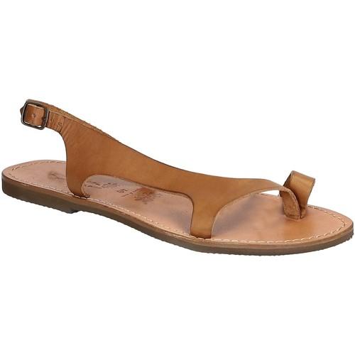Zapatos Hombre Sandalias Gianluca - L'artigiano Del Cuoio 526 D CUOIO GOMMA Cuoio