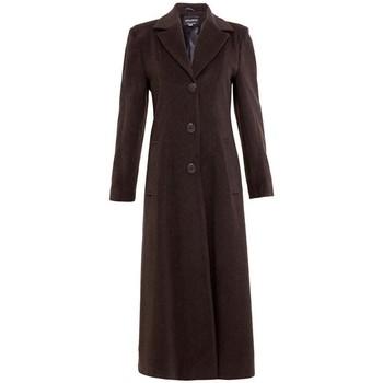 textil Mujer Abrigos De La Creme Abrigo Largo Doble Sencillo Brown