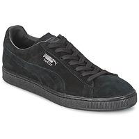 Zapatos Zapatillas bajas Puma SUEDE CLASSIC Negro / Gris