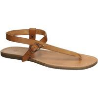 Zapatos Mujer Sandalias Gianluca - L'artigiano Del Cuoio 592 U CUOIO GOMMA Cuoio