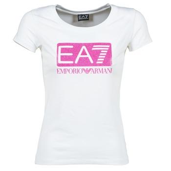 textil Mujer camisetas manga corta Emporio Armani EA7 BEAKON Blanco