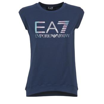 textil Mujer camisetas manga corta Emporio Armani EA7 ANDROUL Marino
