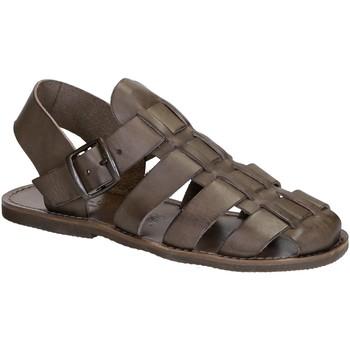 Zapatos Mujer Sandalias Gianluca - L'artigiano Del Cuoio 502 U FANGO GOMMA Fango