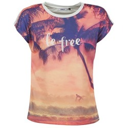 textil Mujer camisetas manga corta Only BE FREE SUMMER Multicolor