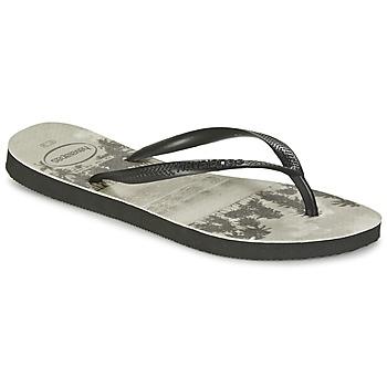Zapatos Mujer Chanclas Havaianas SLIM PHOTOPRINT Negro / Gris