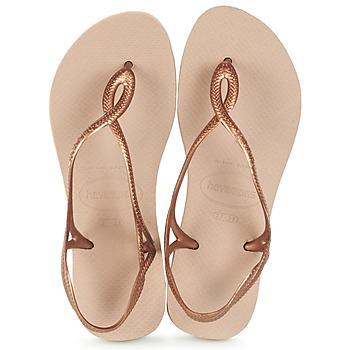 Zapatos Mujer Chanclas Havaianas LUNA Bronce