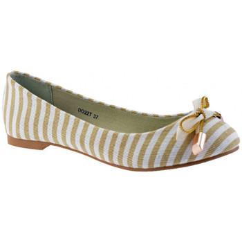 Zapatos Mujer Bailarinas-manoletinas F. Milano  Beige