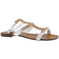 Zapatos Mujer Sandalias F. Milano  Blanco