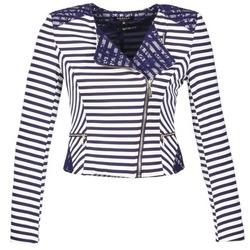 textil Mujer Chaquetas / Americana Morgan VMEL Marino / Blanco