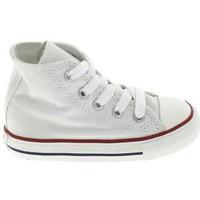 Zapatos Niños Pantuflas para bebé Converse All Star Hi BB Blanc Blanco