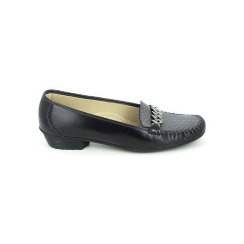 Zapatos Mujer Mocasín Boissy Binome Noir Gris Negro