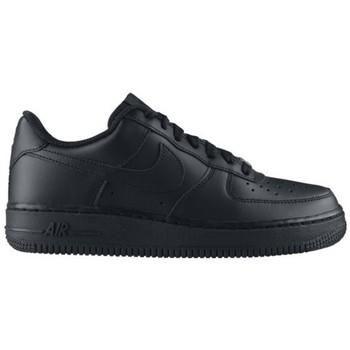 Zapatos Niños Zapatillas bajas Nike AIR FORCE LOW GS NOIR