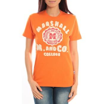 textil Mujer Camisetas manga corta Sweet Company T-shirt Marshall Original M and Co 2346 Orange Naranja