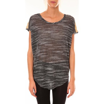 textil Mujer Camisetas manga corta Dress Code Top à sequins R5523 anthracite Gris