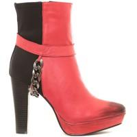 Zapatos Mujer Botines Ilario Ferucci Ilario Ferrucci Bottines en cuir Gibus rouge Rojo