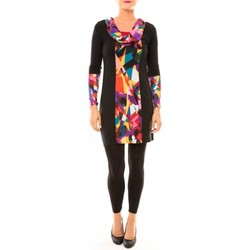 textil Mujer Vestidos cortos Bamboo's Fashion Robe Vintage/noir BW618 multicolor Negro