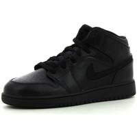 Zapatos Niños Zapatillas altas Nike 1 Mid BG Black / Black