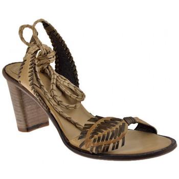 Zapatos Mujer Sandalias Progetto  Beige