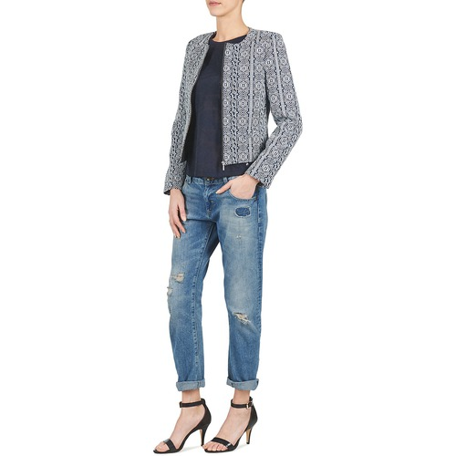 Textil ChaquetasAmericana Guinela oliver Blanco Mujer S Azul QrhtdCs