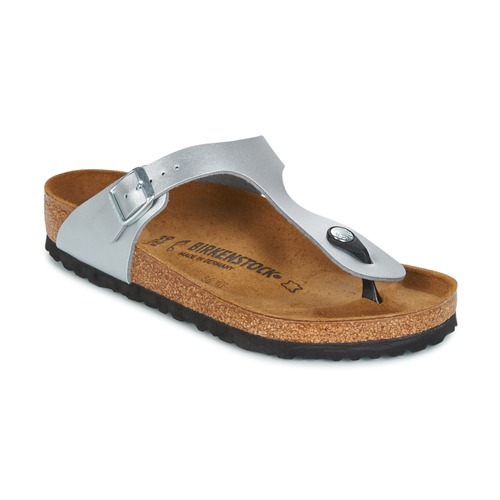 Zapatos Mujer Chanclas Birkenstock GIZEH Plata