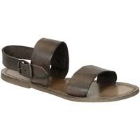 Zapatos Mujer Sandalias Gianluca - L'artigiano Del Cuoio 500 D FANGO CUOIO Fango