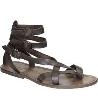 Zapatos Mujer Sandalias Gianluca - L'artigiano Del Cuoio 564 U FANGO CUOIO Fango