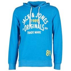 textil Hombre sudaderas Jack & Jones ATHLETIC SWEAT ORIGINALS Azul