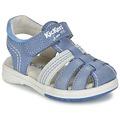 Zapatos Niño Sandalias Kickers PLATINIUM Azul