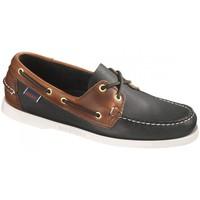Zapatos Hombre Zapatos náuticos Sebago Bateau  Spinnaker Leather Negro