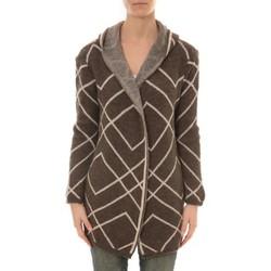 textil Mujer Chaquetas de punto De Fil En Aiguille GILET CAPUCHE ZINKA 2135 TAUPE Marrón