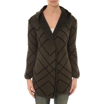 textil Mujer Chaquetas de punto De Fil En Aiguille GILET CAPUCHE ZINKA  2135 KAKI Beige