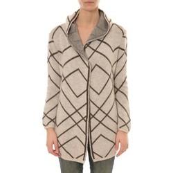 textil Mujer Chaquetas de punto De Fil En Aiguille GILET CAPUCHE ZINKA  2135 BEIGE Verde