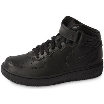 Zapatos Niños Deportivas Moda Nike Air Force 1 Mid Enfant Noir