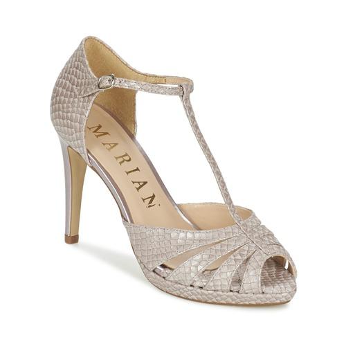 Cómodo y bien parecido Marian CHANVRO Beige / Serpiente - Envío gratis Nueva promoción - Zapatos Sandalias Mujer  Beige / Serpiente