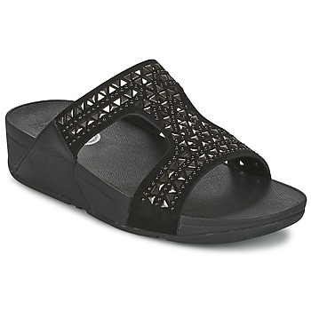 Zapatos Mujer Zuecos (Mules) FitFlop CARMEL SLIDE Negro