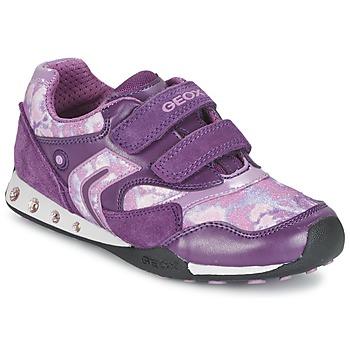 Zapatos Niña Zapatillas bajas Geox NEW JOCKER Morado