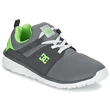 Zapatos Niño Zapatillas bajas DC Shoes HEATHROW Gris / Blanco / Verde