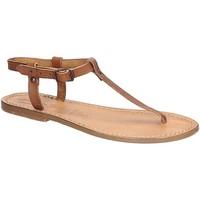 Zapatos Mujer Sandalias Gianluca - L'artigiano Del Cuoio 532 D CUOIO CUOIO Cuoio