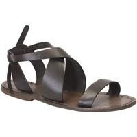 Zapatos Mujer Sandalias Gianluca - L'artigiano Del Cuoio 570 D FANGO CUOIO Fango