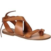 Zapatos Mujer Sandalias Gianluca - L'artigiano Del Cuoio 571 D CUOIO CUOIO Cuoio