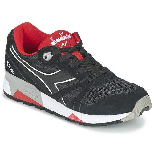 Zapatos promocionales Diadora N9000 NYLON II Negro / Rojo  Descuento de la marca