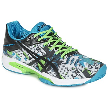 Zapatos Hombre Tenis Asics GEL-SOLUTION SPEED 3 L.E. NYC Blanco / Negro / Azul