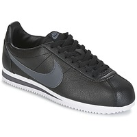 Zapatos Hombre Zapatillas bajas Nike CLASSIC CORTEZ LEATHER Negro / Gris