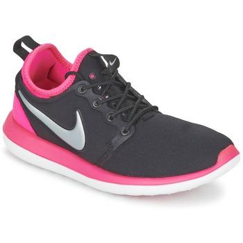 Zapatos Niña Zapatillas bajas Nike ROSHE TWO JUNIOR Negro / Rosa
