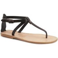 Zapatos Mujer Sandalias Gianluca - L'artigiano Del Cuoio 582 D NERO LGT-CUOIO nero