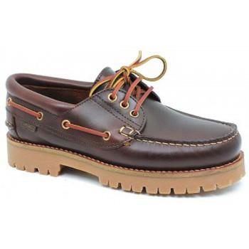 Zapatos Hombre Zapatos náuticos CallagHan mod.21910 Marrón Marrón