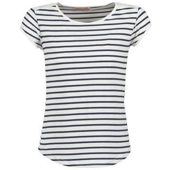 textil Mujer camisetas manga corta Moony Mood EIYA Blanco / Azul